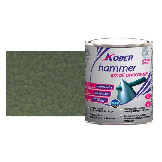 Vopsea Hammer lovitura ciocan Verde Luminos 10 l Kober