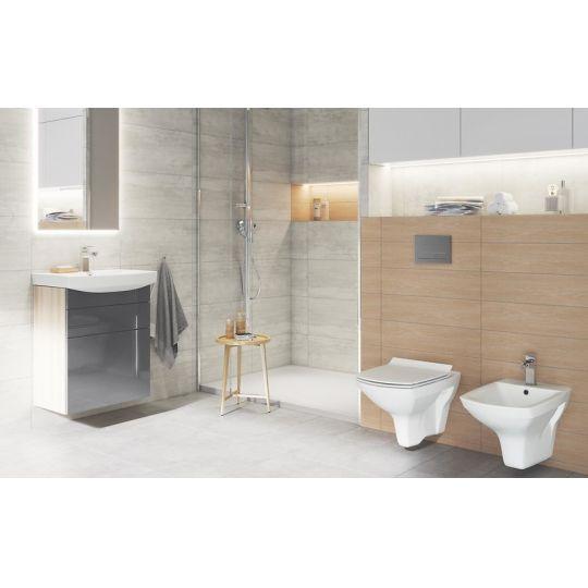 Set vas WC suspendat 724 Carina Clean On Cersanit (capac Slim cadere lenta inclus One Button)