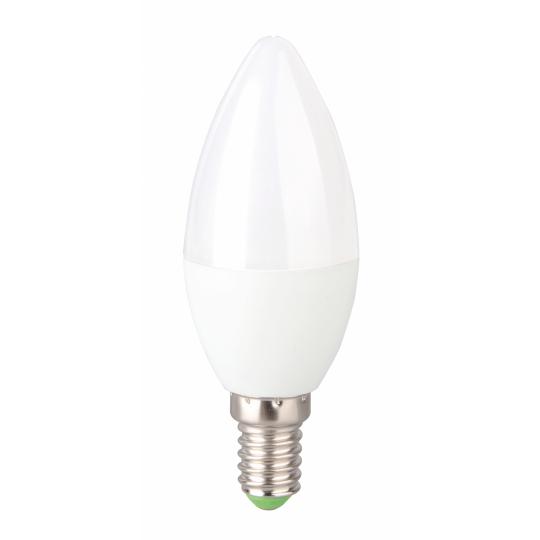 Bec LED EVO17 6W, lumanare C37, E14, lumina calda 3000K, Total Green