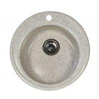 Chiuveta tip compozit FibroCOMP, 49 cm, 1 cuva Sand Grey Cleanmann