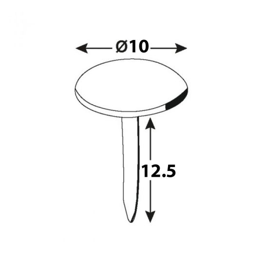 Cuie tapiterie decorative Bubble Antic D10x12.5 - 40 buc Connex