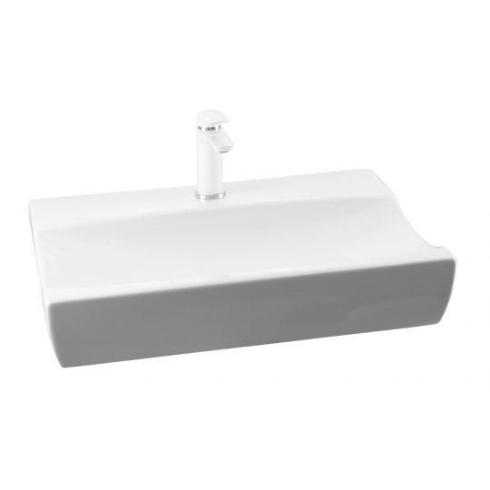 Lavoar pe blat Cornat INTRA, 65 cm ,alb