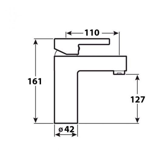 Baterie lavoar Leicht Cleanmann, negru mat