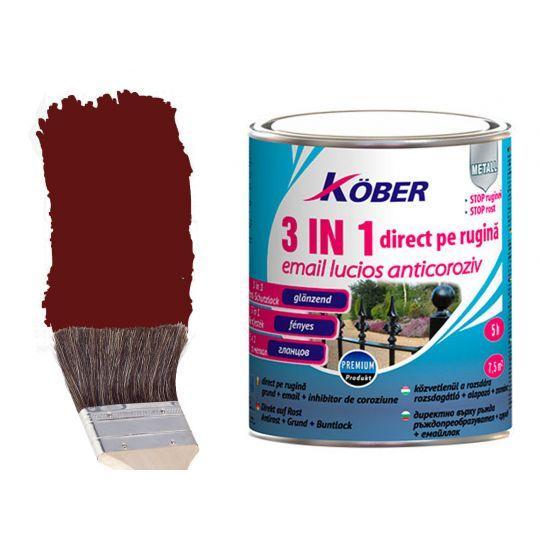 Vopsea antirugina 3 in 1 Maro 2.5 l Kober