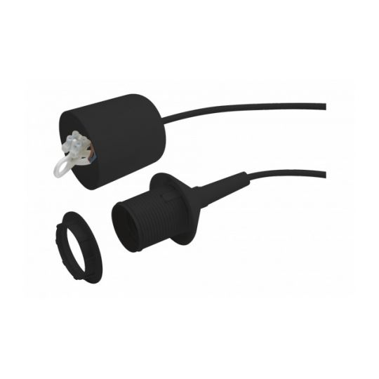Set fasung si cablu 70 cm E27, max 60W Meister Negru