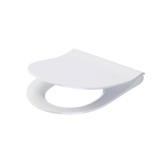 Capac WC City Oval Slim duroplast antibacterian, cadere lenta Cersanit, demontare rapida Cersanit
