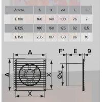 Ventilator axial de baie 100 E100 Era