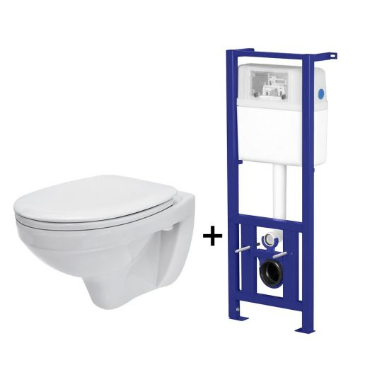 Pachet ALL IN ONE 850 compus din rezervor incastrat LINK + vas WC suspendat DELFI + capac WC PP Delfi