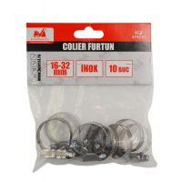 Colier Inox pentru Furtun 16-32 mm, Evo Pro 10 buc