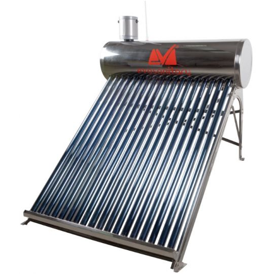Sistem Panou Solar Inox cu Tuburi Vidate Inclinatie Redusa, 150 l, 18 Tuburi, 1800 mm, EvoSanitary