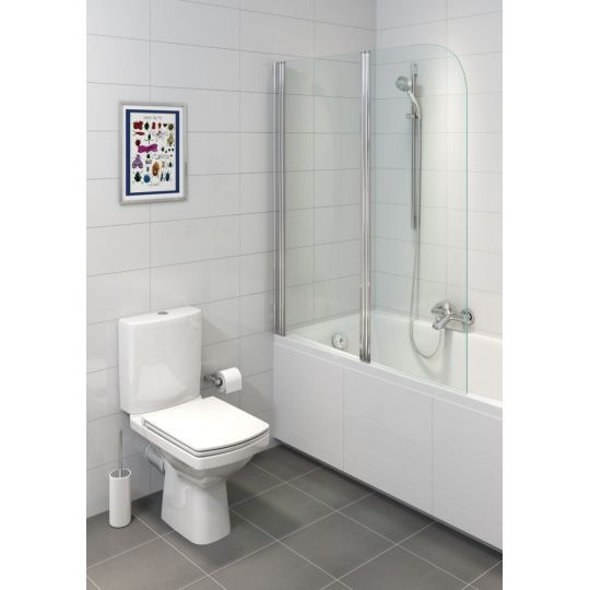 Vas WC 605 compact alimentare laterala Easy Clean On Cersanit (capac separat)