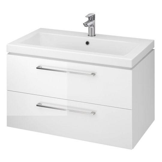 Dulap baie Lara alb pentru lavoar Como 80 Cersanit