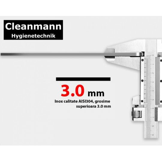 Chiuveta inox Cleanmann 85x48 cm,pe blat, inox anti-amprenta, Hand Made Tempo Meister