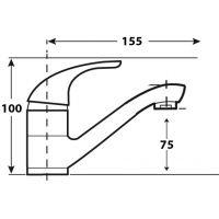 Baterie lavoar Leicht Cleanmann pipa medie, negru mat