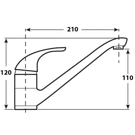 Baterie bucatarie tip pipa lunga Leicht Cleanmann, alb mat