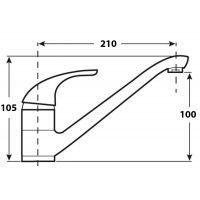 Baterie bucatarie Cleanmann Max, pipa lunga, crom