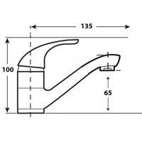 Baterie lavoar Cleanmann Max pipa medie, crom