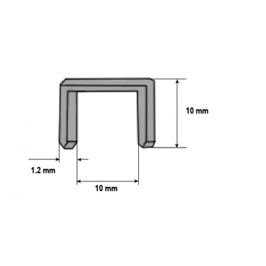 Capse capsator lemn 10x1.2 mm- 1000 buc