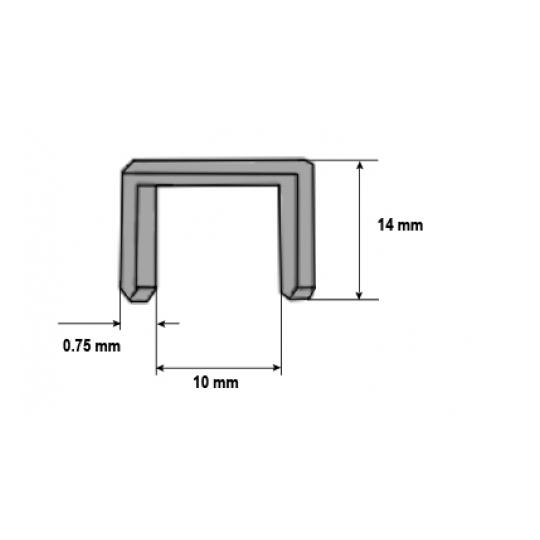 Capse pentru lemn 14x0.75 mm - 1000 buc