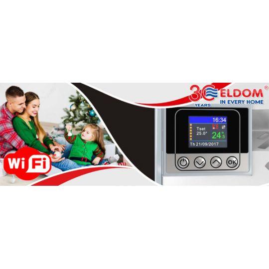 Panou radiant de perete Eldom RH20NW, 2000W, control Wi-Fi, digital, ecran color TFT