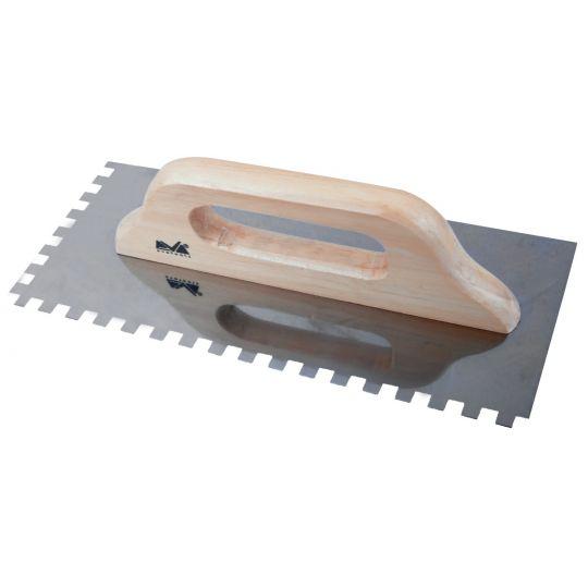 Drisca Zimtata din Otel Inox cu Maner de Lemn 580 mm, Evo Pro
