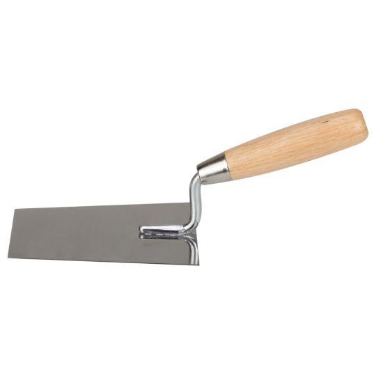 Mistrie Inox Trapezoidala Maner Lemn 160 mm, Evo Pro