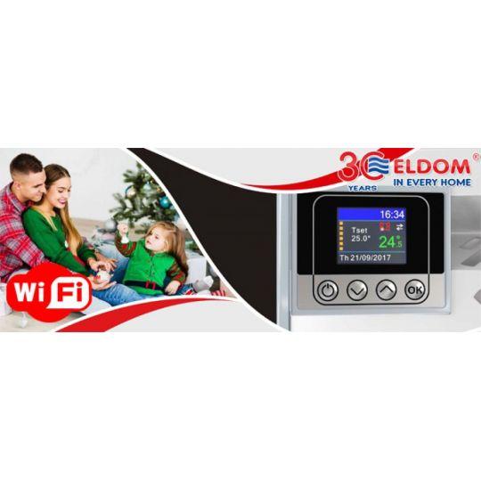 Panou radiant de perete Eldom RH10NW, 1000W, control Wi-Fi, digital, ecran color TFT
