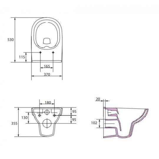 Vas WC suspendat City Clean On Cersanit (capac separat)