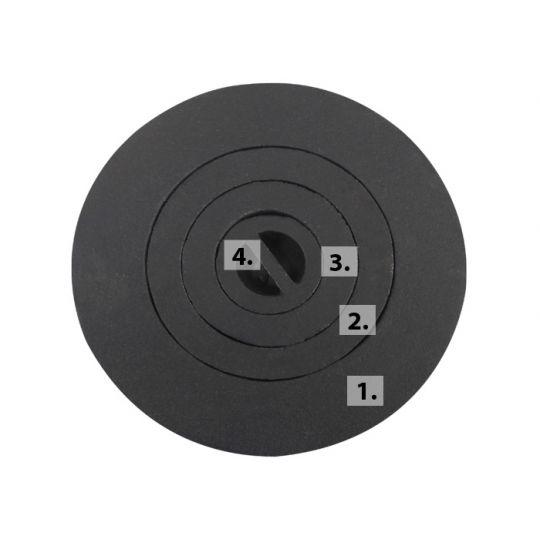 Capac plita soba D63 mm (poz.4)