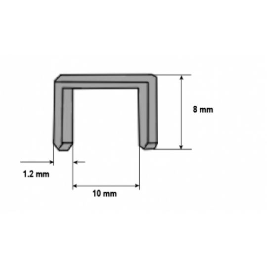 Set 1000 Capse pentru Lemn 8x1.2 mm, Tolsen
