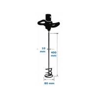 Amestecator elicoidal SDS zincat, diametru 80 mm; lungime 400 mm