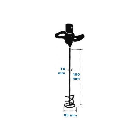 Amestecator elicoidal zincat 400x85 mm