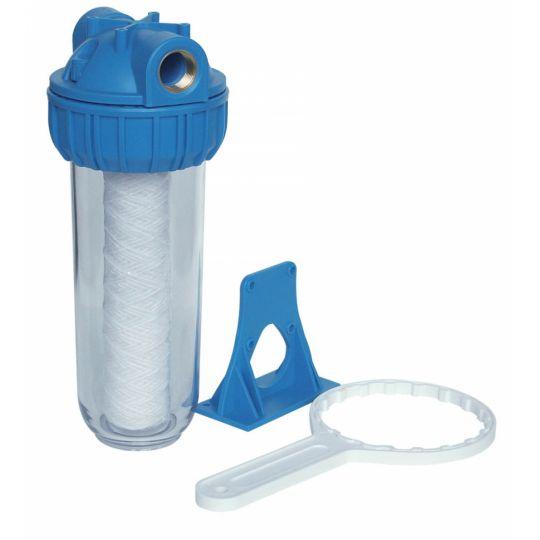 Filtru mecanic compact 10 inch 1 tol Everpro + filtru bumbac 10 inch