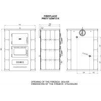 Termosemineu PRITY S3W13 13+5 kW laterale teracota Alb