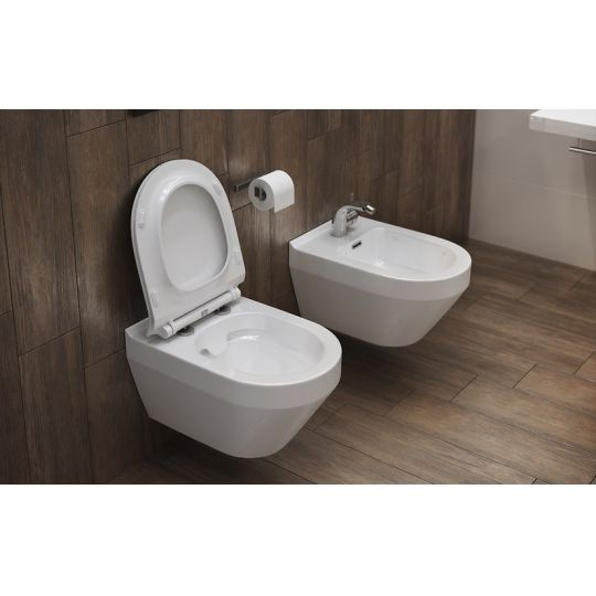 Vas WC suspendat Crea Oval Clean On Cersanit (capac separat)