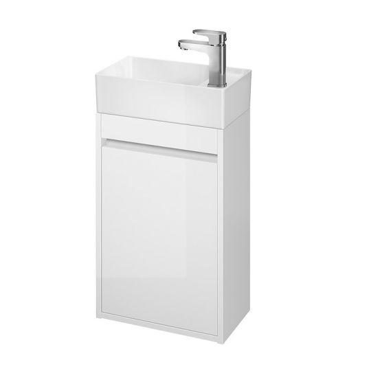 Dulap de baie alb Cersanit Crea pentru lavoar Crea 40 Cersanit