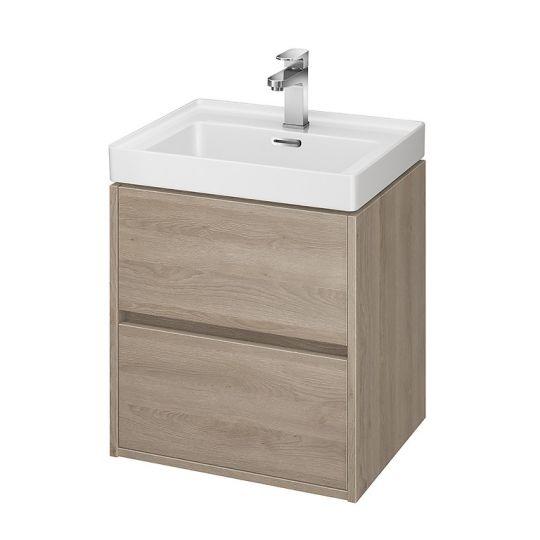 Dulap de baie stejar Cersanit Crea pentru lavoar Crea 50 Cersanit