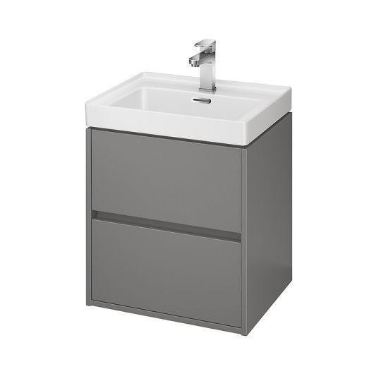 Dulap de baie gri mat Cersanit Crea pentru lavoar Crea 50 Cersanit