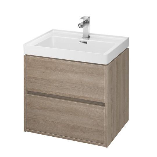 Dulap de baie stejar Cersanit Crea pentru lavoar Crea 60 Cersanit