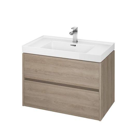 Dulap de baie stejar Cersanit Crea pentru lavoar Crea 80 Cersanit
