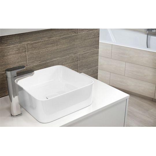 Dulap de baie alb Cersanit Crea, 80 cm, pentru lavoarele pe blat Crea Cersanit