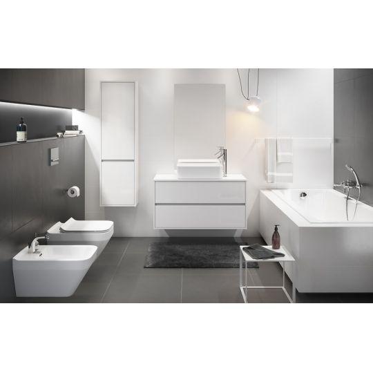 Dulap de baie alb Cersanit Crea, 100 cm, pentru lavoarele pe blat Crea Cersanit