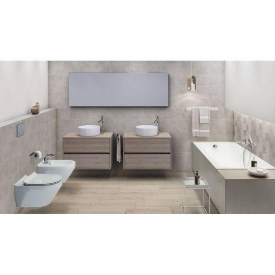 Dulap de baie stejar Cersanit Crea, 100 cm, pentru lavoarele pe blat Crea Cersanit