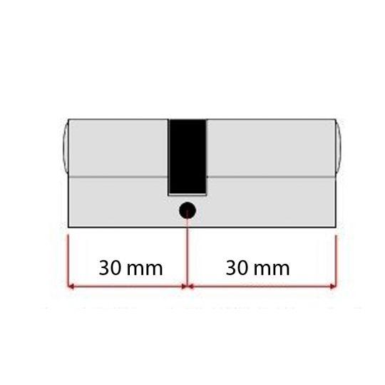 Butuc yala egal 60 mm, chei amprenta Evo