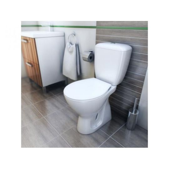 Set compact WC iesire verticala Basic Cleanmann by Cersanit