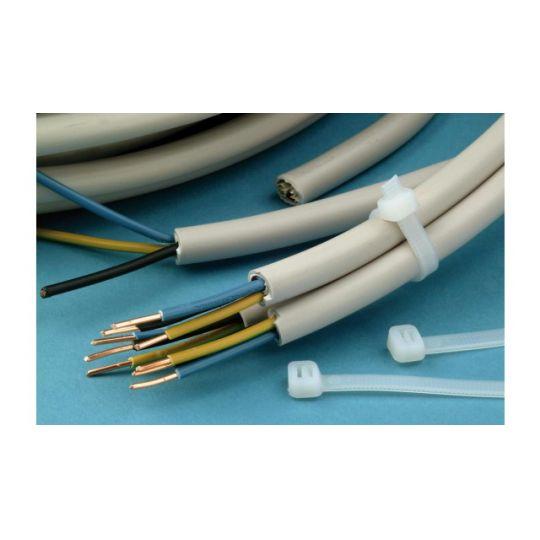Coliere Cablu 150x3.6 mm, Verzi, 50 buc, Meister