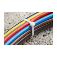 Coliere Cablu 150x3.6 mm, Albe, 25 buc, Meister