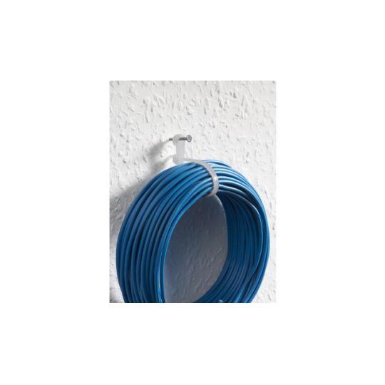 Colier Cablu cu Agatatoare 200x4.6 mm, Alb, 25 buc, Meister
