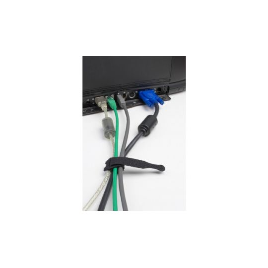 Coliere Cablu Velcro 200 mm, Negre, 5 buc, Meister