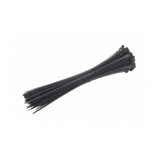 Coliere Cablu 200x4.8 mm, Negre, 100 buc, Meister